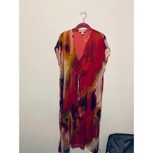 Sheer Multicolored Michael Stars Caftan